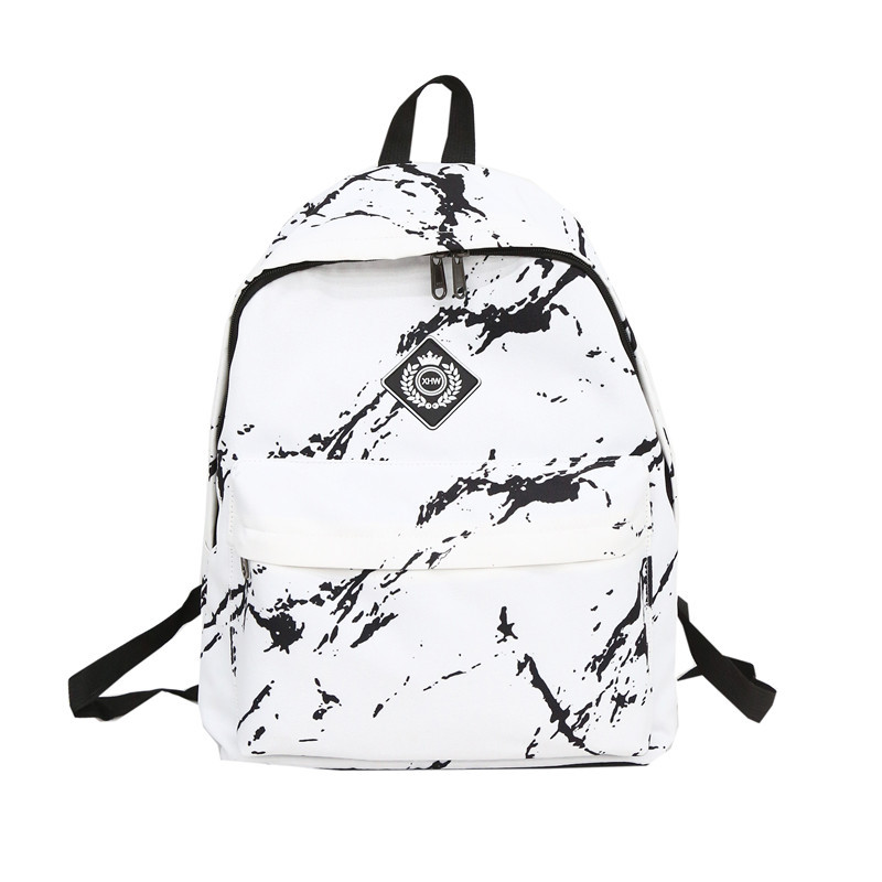 Women Nylon Backpack For Teenagers Girls Ladies Bags Marbling Backpack Female Computer High Quality Rucksack Schoolbag
