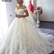 Vestido de Noiva 2019 Princess Wedding Dress Ball Gown Off Shoulder Be