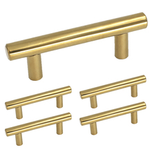 gold kitchen cabinet pulls polished brass hole centers 212 inch stainless steel drawer handles bathroom door knobs 5pack