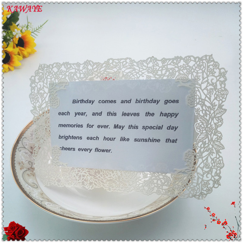 2017 New 10pcs Laser Cut Lace Paper Place Name Seat Card Wedding Birthday Party Invitation Table Decoration 18*12cm 5ZH13
