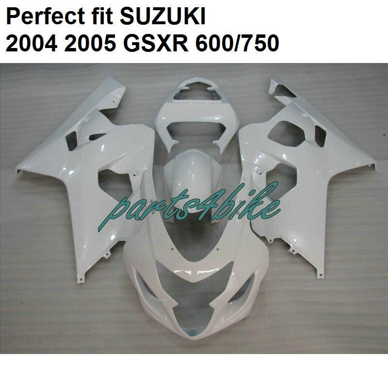 White 100% fit injection fairings for Suzuki GSXR 600 k4 04 05 body work parts fairing kit GSXR750 2004 2005 WN20
