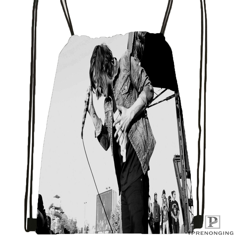 Custom Sleeping With Sirens Music Drawstring Backpack Bag Cute Daypack Kids Satchel Black Back 31x40cm 180531