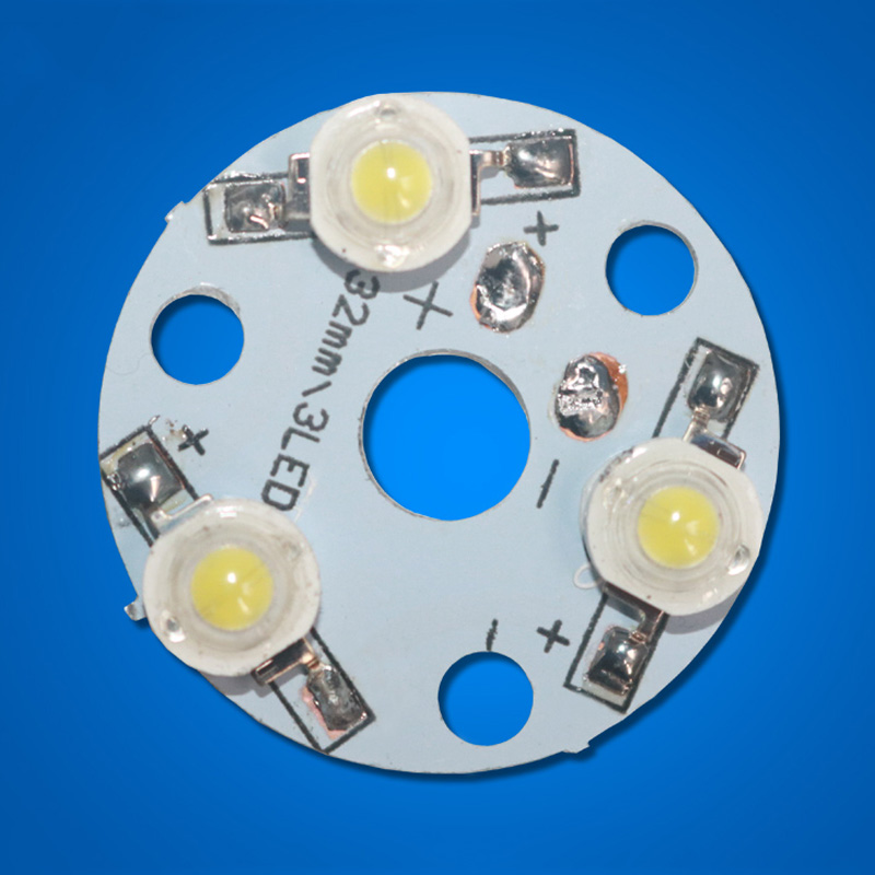 1pcs 3W LED PCB high power , LED Diodes Light beads aluminum plate 32mm, aluminum plate with welding finished LED lamp beads DIY