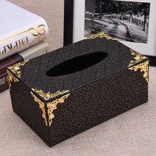Прямоугольная Съемная PU деревянная коробка для салфеток Держатель съемная коробка для салфеток контейнер коробка для бумажных салфеток держатель диспенсер для бумаги 530