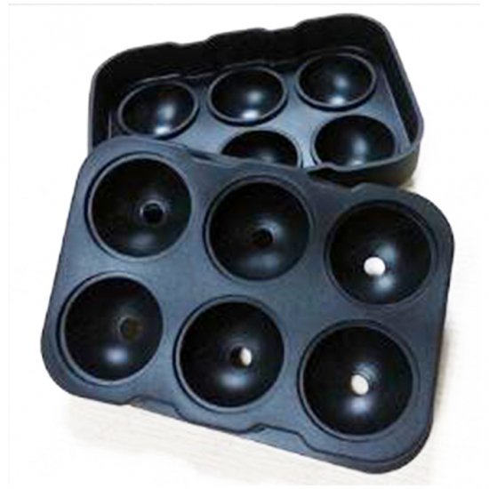 New Arrivel and Hot Sale Whiskey Ice Cube Ball Maker Mold Sphere Mould Party Tray Round Bar Silicone silicone ice ball ice tray maker diy mould grey beige