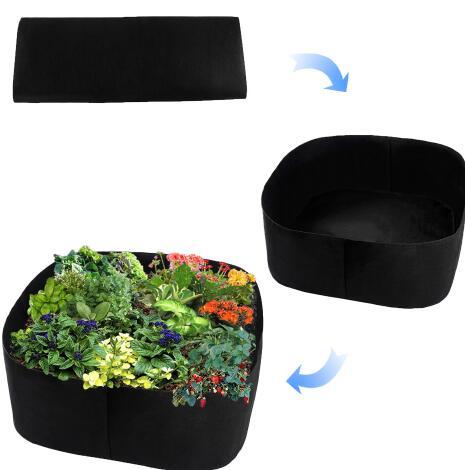T-anzug farben Schwarz Verdickung Stoff Topf Anlage Beutel Wurzel Container Wachsen Tasche Werkzeuge Garten Töpfe Pflanzer Liefert