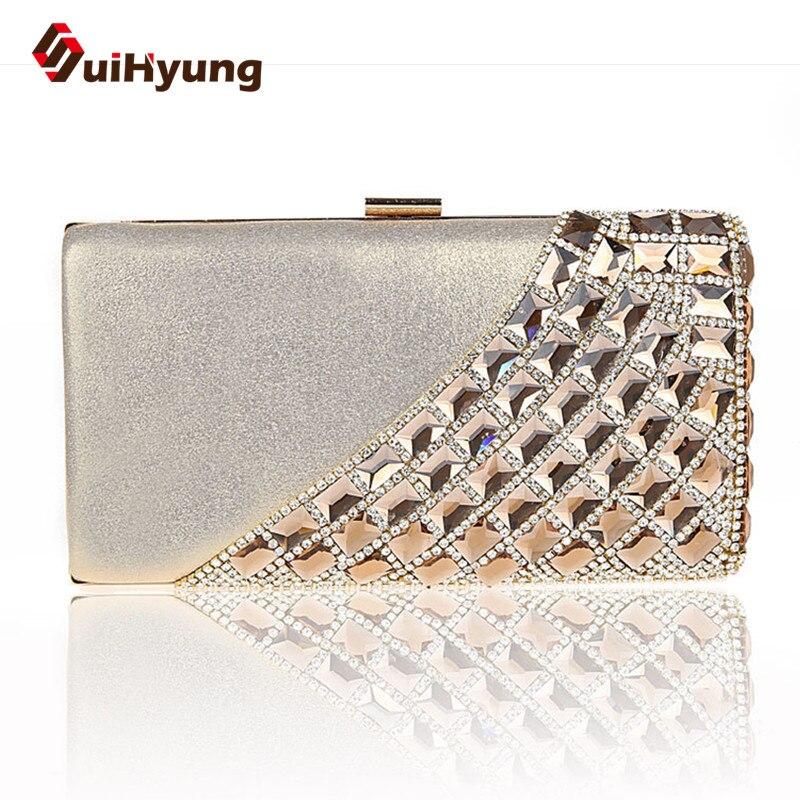 New Fashion Luxury Women's Party Diamond Bags Bling Rhinestone Wedding Day Clutch Purse Woamn Evening Bag Small Clutch Handbag bling koi fish purse luxury rhinestone