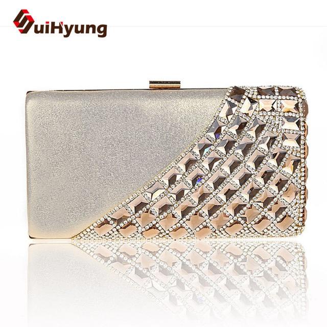 New Fashion Luxury Women's Party Diamond Bags Bling Rhinestone Wedding Day Clutch Purse Woamn Evening Bag Small Clutch Handbag