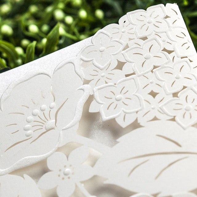 Creme Cut Blume Braut Hochzeit Einladungen Liefert DIY Handwerk Karte Party  Decor