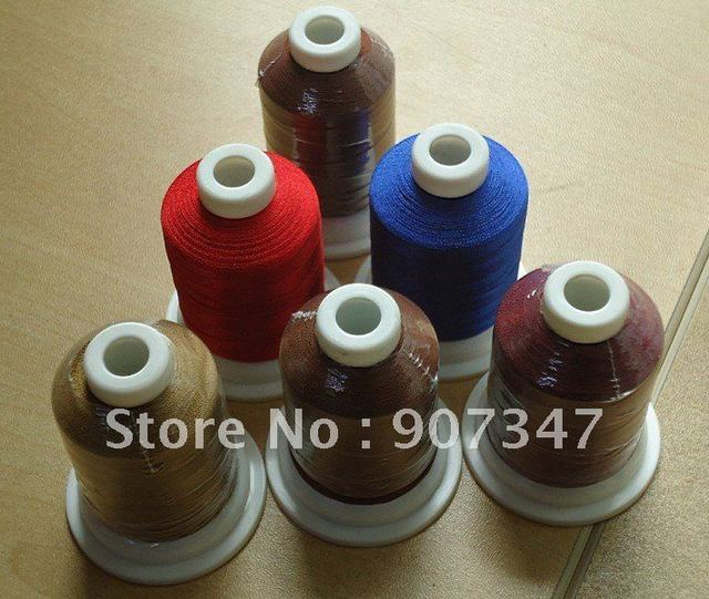 Best selling !! polyester embroidery thread 100% high quality+free shipping!