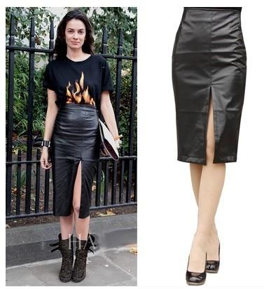 Aliexpress.com : Buy New 2015 Autumn High Waist Faux Leather ...