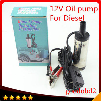 DC 12V / 24V Car Camping fishing Water Oil Diesel Fuel Pump Transfer Pump Submersible Pumps Submersible Switch Stainless Steel oil pump 12v dc for diesel fuel water oil car camping fishing submersible transfer vortex pump hand air pumps with swich 12l min