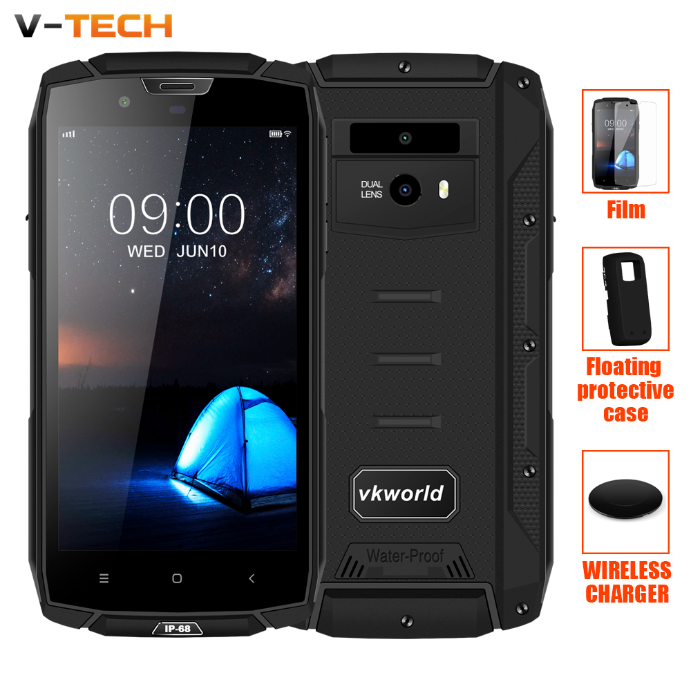 Vkworld VK7000 IP68 5600mAh 5.2 MTK6750T Fast Charge 5V/2A Android 8.0 Face ID Wireless Charge 4GB RAM 64GB ROM 4G Smartphone
