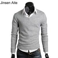 Winter Autumn 2014 Mens Sweaters British Style Vintage Fit Slim Sheer Fashion V Neck Men Brand
