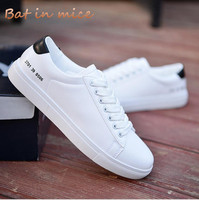 2018 New Spring Summer Fashion Leisure Shoes Men Student White Shoes Breathable Good Quality Youth Male