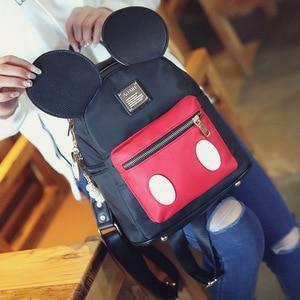 Image 3 - Женский рюкзак с героями мультфильмов, с Микки Маусом