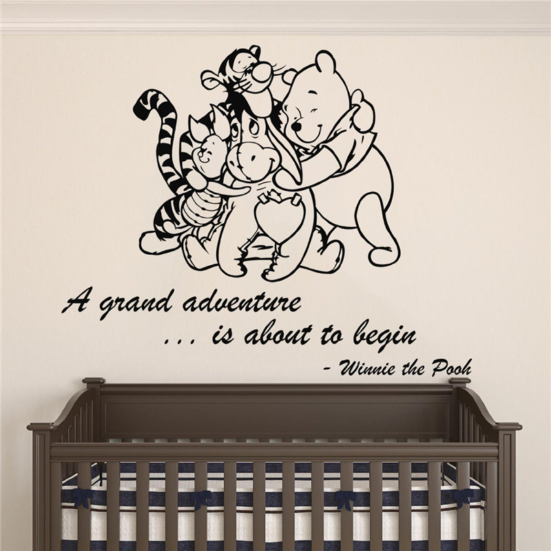 Winnie The Pooh Wall Quotes: Winnie Pooh & Friends A Grand Adventure Is About To Begin