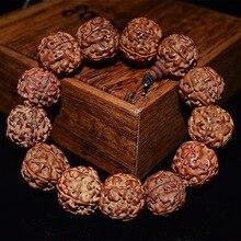 ספינר בודהיסטי טיבטי טבעי בודהי זרע צמיד בודהה קסם צמיד תכשיטי תפילת חרוז Mala צמיד אביזרי אופנה