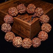 SPINNER buddyjski tybetański naturalny bransoletka z nasion Bodhi budda bransoletka z wisiorkiem biżuteria sznur modlitewny bransoletka mala modne dodatki
