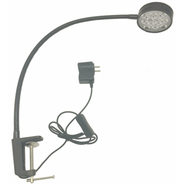 12W LED GOOSENECK CLAMP ON LAMP