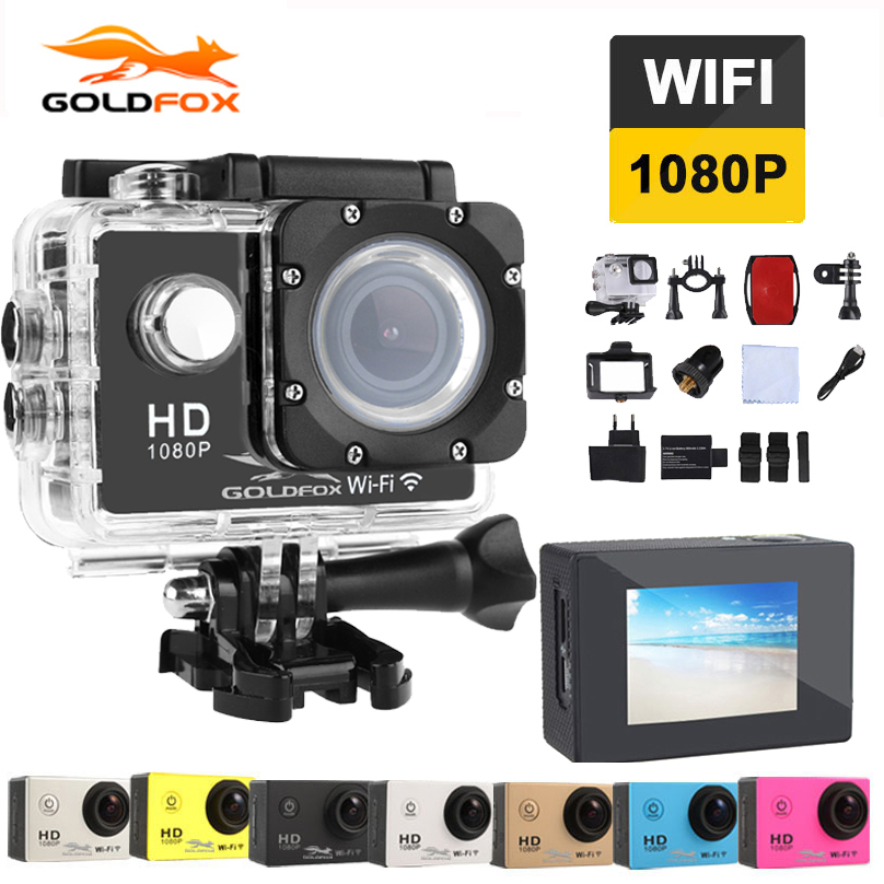 GOLDFOX Action Camera 2.0 inch Mini Cam wifi 170 degrees 1080p 30fps Go Waterproof pro Sj4000 Style Outdoor Sport Camera стоимость