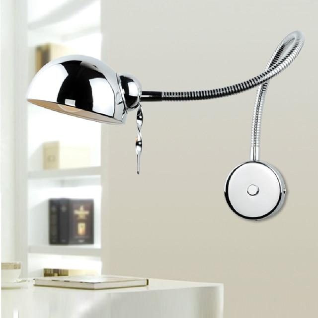 Miroir lampe de mur de led avec interrupteur moderne applique