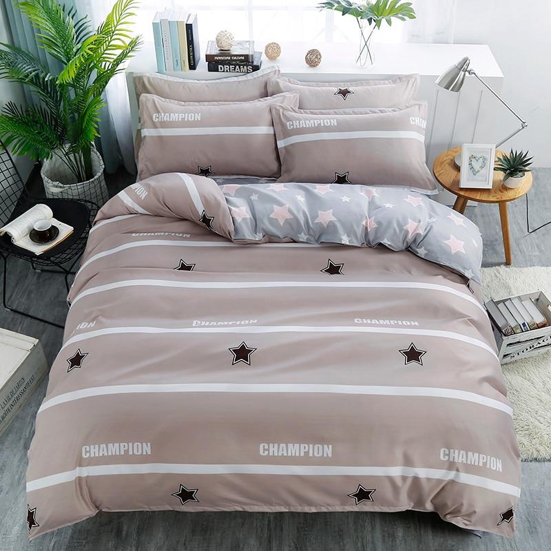 4pc light coffee beddingset duvet cover sheet pillowcase