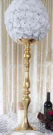 10 Pcs 50cm Tall Best Selling Gold Iron Wedding Centerpiece Vase