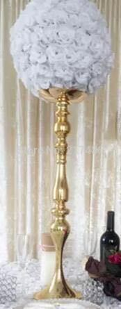 10 Pcs 50cm Tall Best Selling Gold Iron Wedding Centerpiece Vase In Candle Holders From Home