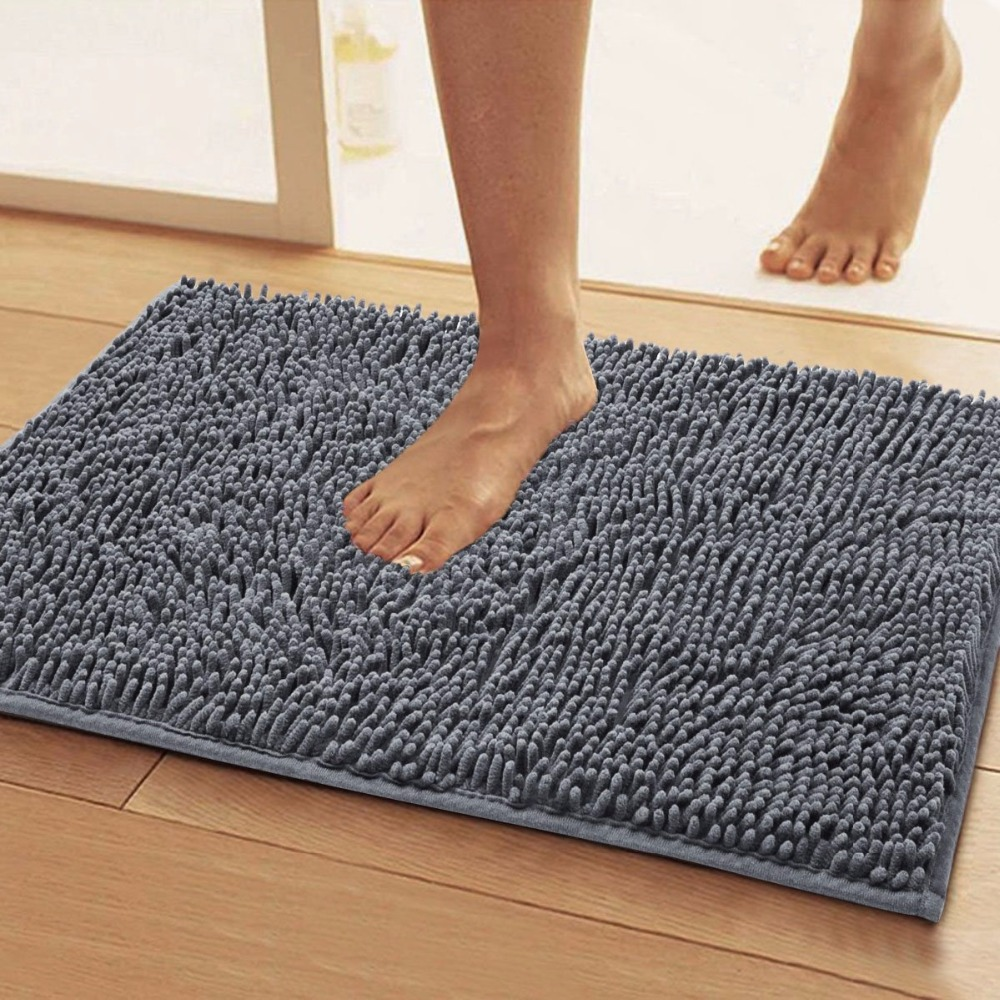 Floor mats super cheap - 50x80cm Super Soft Non Slip Microfiber Shag Bathroom Mats Absorbent Carpets Doormat Bedroom Dining Living Hallway Floor Area Rug