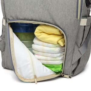 Image 4 - LEQUEEN USB Interface Diaper Bag Large Capacity Waterproof Fashion Mummy Travel Shop Maternity Nursing Backpack Nappy Organizer