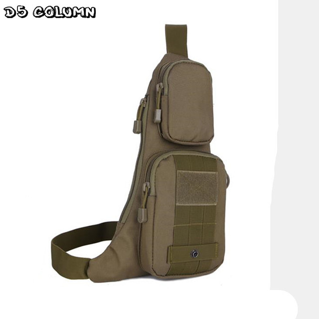 Men Messenger Bag Travel Water-proof Nylon Military Chest Pack Cross body Waist Pack Single Shoulder Chest Bag