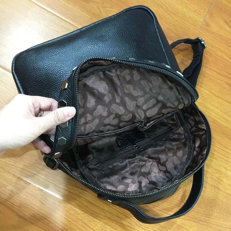 AETOO 2018 new European and American large-capacity Guangzhou leather handbags oil wax leather backpac