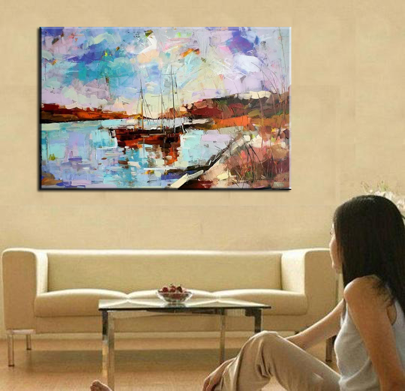 DONGMEI OILPainting hand-painted famous oil painting high quality Modern artists Oil painting seaview WX15041506
