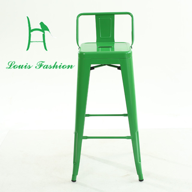 Metal Restaurant Chairs Execution Electric Chair For Sale Iron Stool High Contracted Wrought Cafe Square Tin