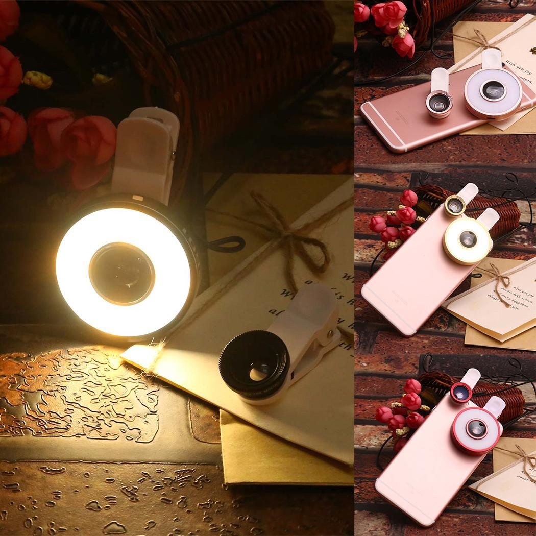 Smartphones On 6 Angle Kit 1 Fisheye In Macro Light Clip Wide For LED Lens