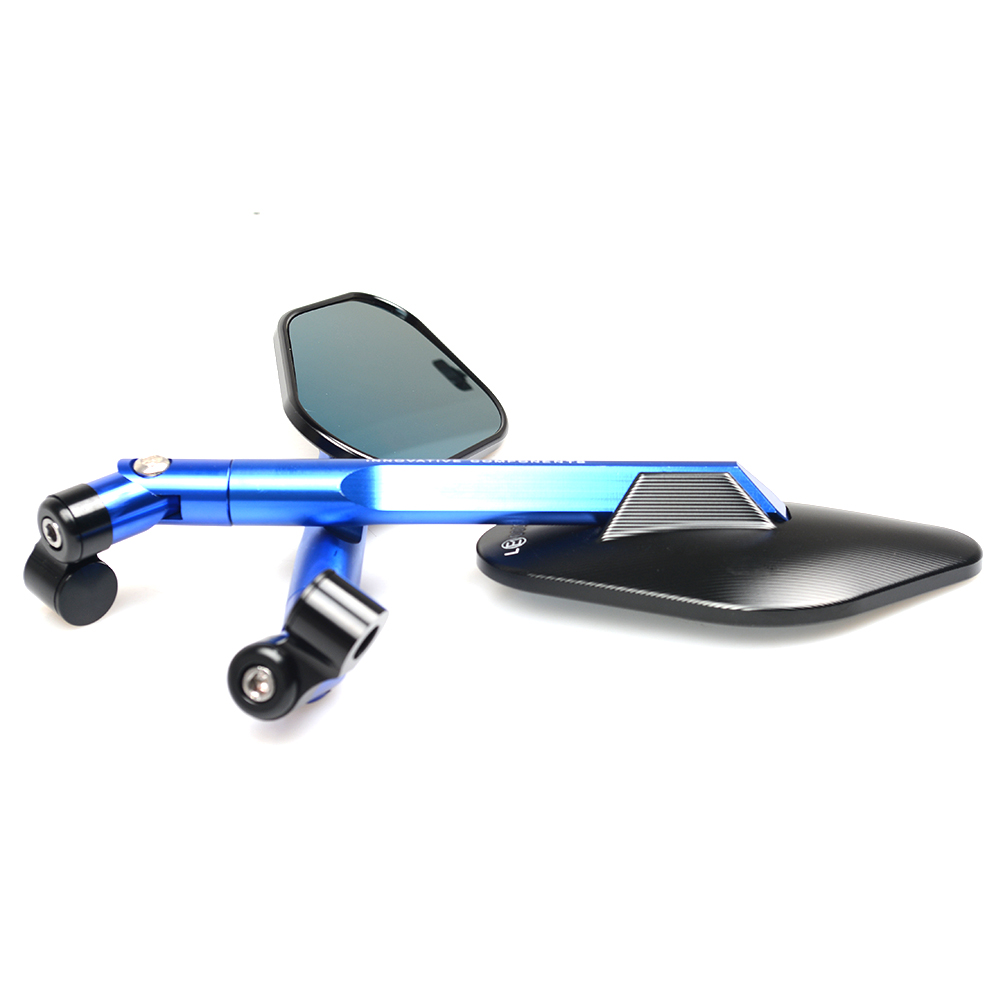 CNC Aluminum Motorcycle Rearview Mirrors Blue Glass Rear View Side Mirror Universal for HONDA KAWASAKI YAMAHA KTM DUCATI APRILIA in Side Mirrors Accessories from Automobiles Motorcycles