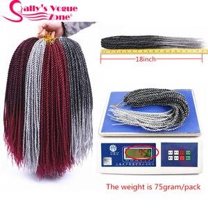 Image 4 - 5 パック/ロット Sallyhair 小さな Senegalese 編みツイスト組紐ヘアかぎ針編組 30 ストランド/パック色オンブル合成編組髪