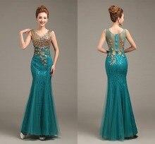 Ensotek 2018 High Quality Long Lace Dress Maxi Dress V-Neck Beaded Long Mermaid Evening Gowns vestido de festa For Prom Party
