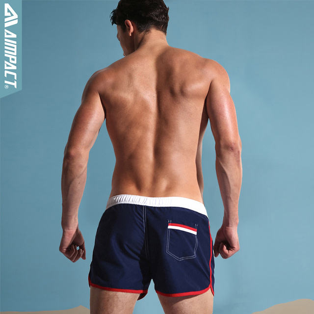 Aimpact Quick Dry Men's Board Shorts Sea Maillot De Bain Sexy Beach Bermuda Elastic Waist Lining Liner Men's Board Shorts 2AC432