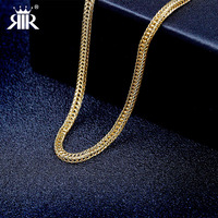 RIR Brand New Arrivals 24k Plated Gold Men Necklace High Quality Send Boyfriend Gift Stainless Steel