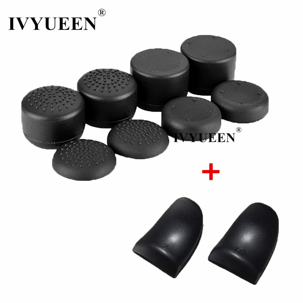 IVYUEEN 10 in 1 Silicone Analog Sticks Grip for Dualshock 4 PS4 Slim Pro Controller Joystick Caps with R2 L2 Trigger ExtenderIVYUEEN 10 in 1 Silicone Analog Sticks Grip for Dualshock 4 PS4 Slim Pro Controller Joystick Caps with R2 L2 Trigger Extender