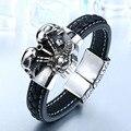 Beier Genuine Cowhide Bracelet Classic styles for men and women biker Bracelet trendy fashion personality jewelry   BC-L010