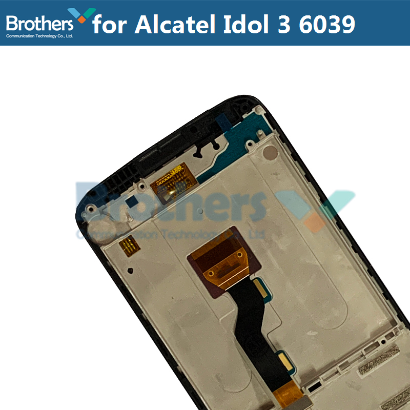 LCD Screen For Alcatel Idol 3 6039 6039A 6039K 6039Y LCD Display With Touch Screen Digitizer Assembly With Frame Replacement Top (5)