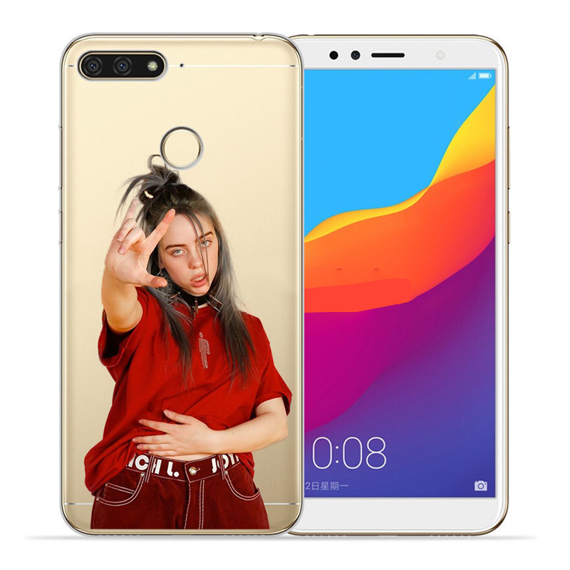 Luxury Billie eilish For Huawei Honor 10 9 8 8X 8C 7A 7C 7X 7 6X 6A 20 Pro V20 20i Lite phone Case Cover Funda Coque Etui capa in Half wrapped Cases from Cellphones Telecommunications