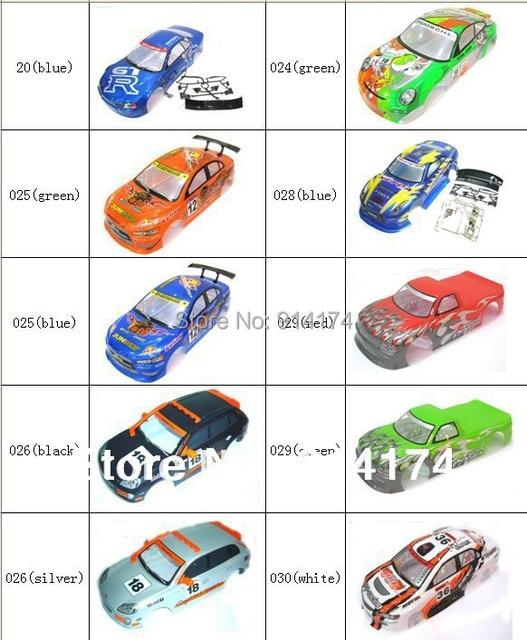 YUKALA 1/10 rc car body shell  for 1:10 R/C racing car 190mm  henglong  2pcs/lot   free shipping