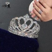 YaYI ювелирные изделия Мода Принцесса Cut 4,6 CT черный циркон серебряного цвета обручальные кольца вечерние кольца