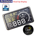 "New ActiSafety 4C-2015 OBD II Car HUD 5.5"" Head UP Display OBDII Car Styling Car Kit Fuel Overspeed KM/H Pro with Anti-slip Pad"