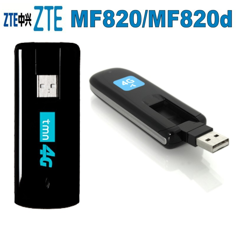 ZTE MF820D 4G USB Dongle 100M LTE FDD800//1800//2600MHZ Unlocked Wiereless Modem