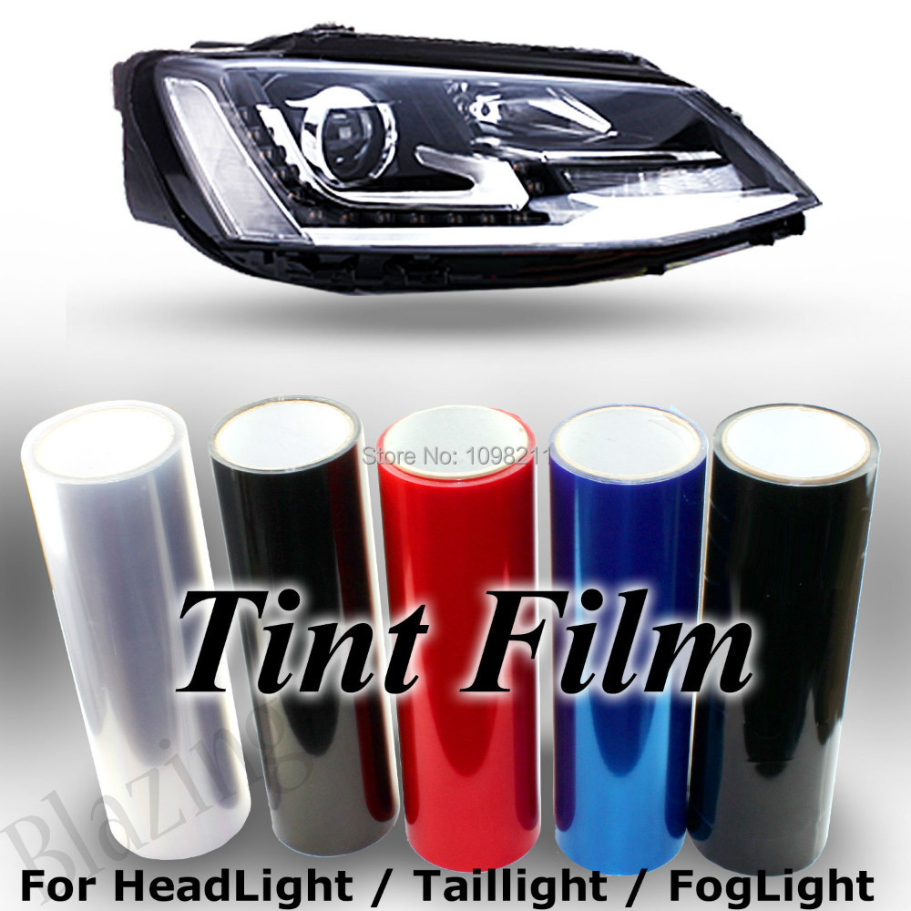 100cm x 30cm Fog Headlight Tail Light Tint 5 color Available Vinyl ...